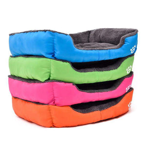 Solid Color Soft Cotton Dog Bed