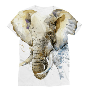 African Elephant Painting Women's T-Shirt Classic Sublimation