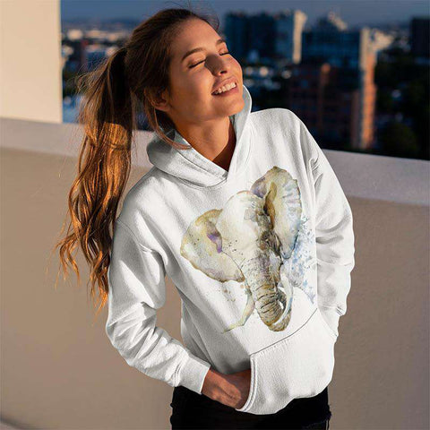 African Elephant Painting Hoodie Classic