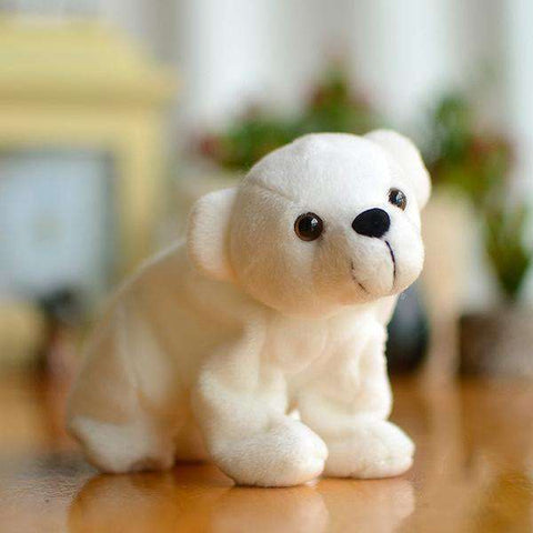 Image of Miniature Baby Polar Bear Toy