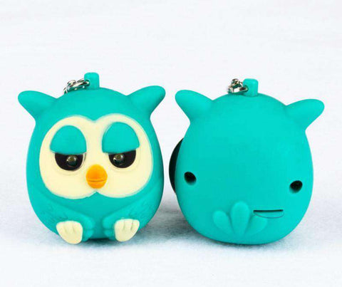 LED Cute Owls Keychains with sound