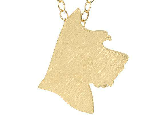 Schnauzer Charm Necklace - Green Earth Animals