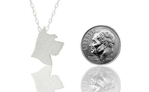 Image of Schnauzer Charm Necklace - Green Earth Animals