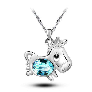 Horse Lovers Crystal Necklace