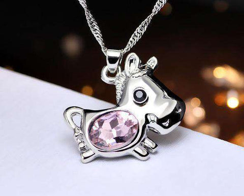 Horse Lovers Crystal Necklace - Green Earth Animals