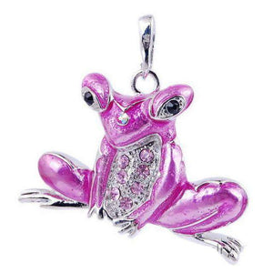 Cool Retro Frog Necklace