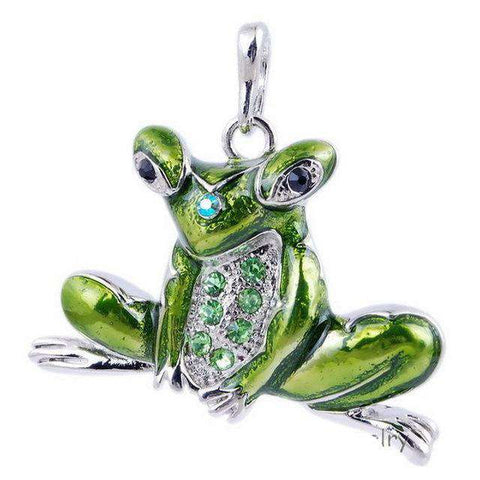 Cool Retro Frog Necklace - Green Earth Animals