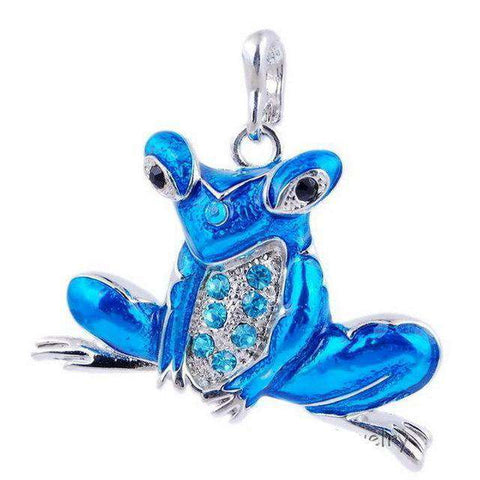 Image of Cool Retro Frog Necklace - Green Earth Animals