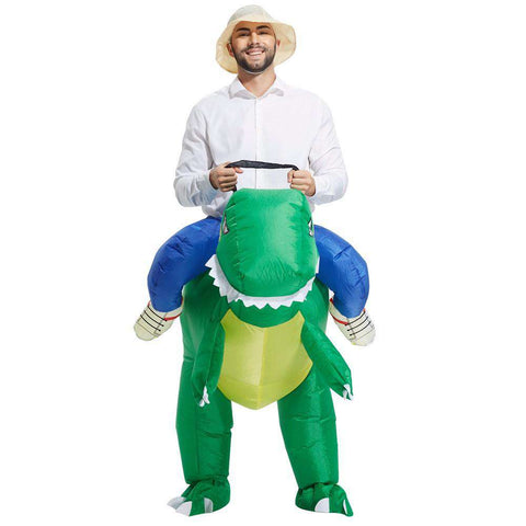 Inflatable Dinosaur Rider Costume - Green Earth Animals