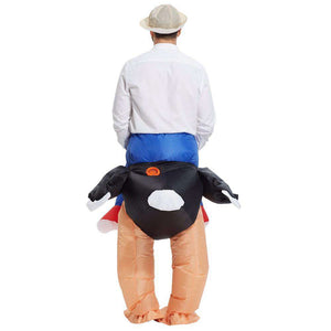 Inflatable Ostrich Rider Costume