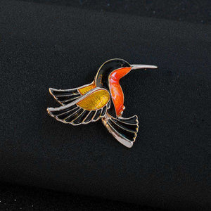 Hummingbird Brooch Pin