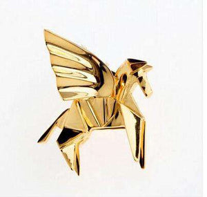 Pegasus Winged Horse Pin - Green Earth Animals