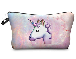 Pink Unicorn Travel Makeup Bag