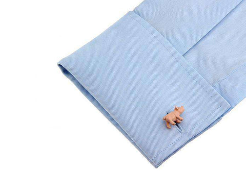 Image of Pink Pig Cuff Links - Green Earth Animals