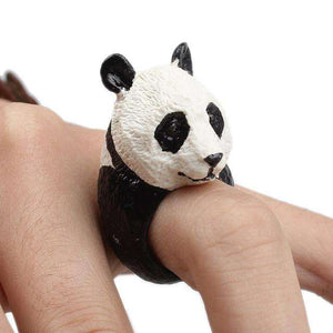 Cute Panda Bear Ring - Green Earth Animals