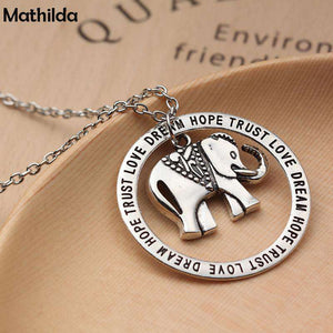 Elephant Dream Hope Trust Love Necklace