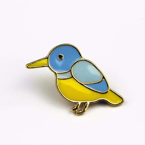 Image of Bird Swallow Brooch Pin - Green Earth Animals