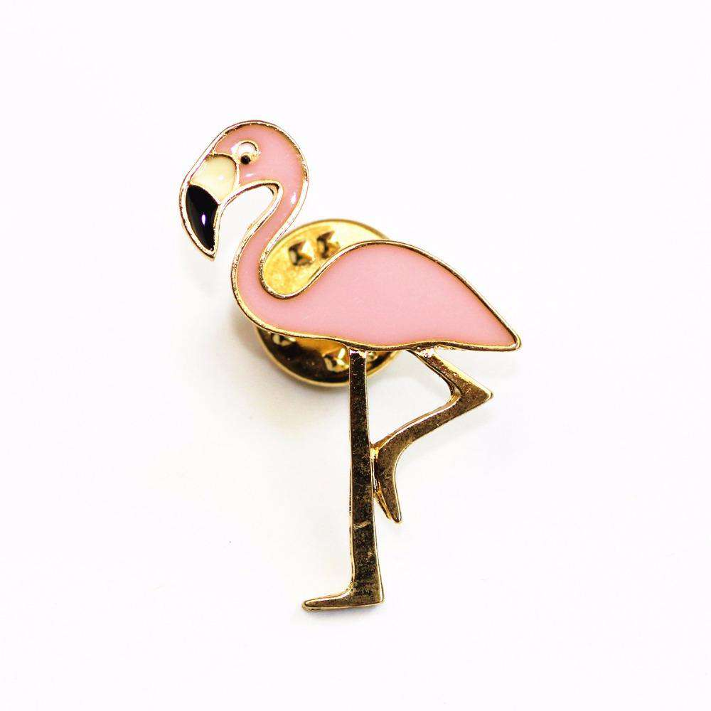 Flamingo Brooch Pin - Green Earth Animals