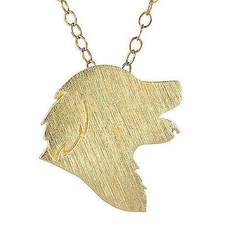 Golden Retriever Charm Necklace - Green Earth Animals