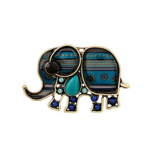 Elephant Enamel Ring