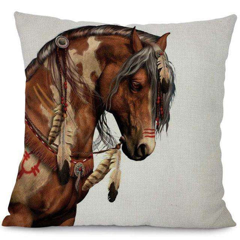 Wild Horses Pillow Covers - Green Earth Animals