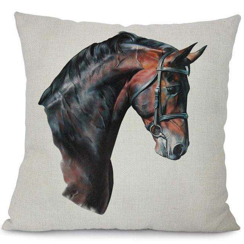 Image of Wild Horses Pillow Covers - Green Earth Animals