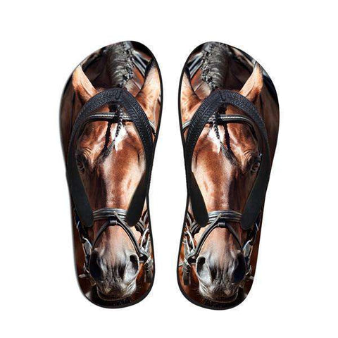 Beautiful Horse Flip Flop Sandals
