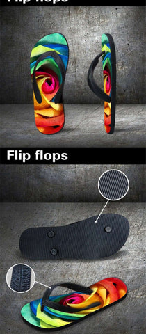 Image of Cool Zebra Flip Flop Sandals