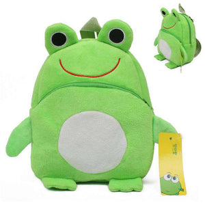 Kid's Plush Frog Backpack - Green Earth Animals