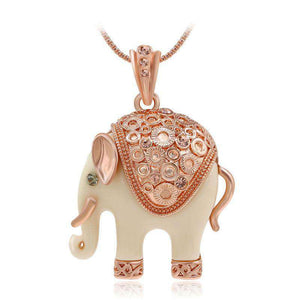 White Elephant Jewelry Necklace - Green Earth Animals
