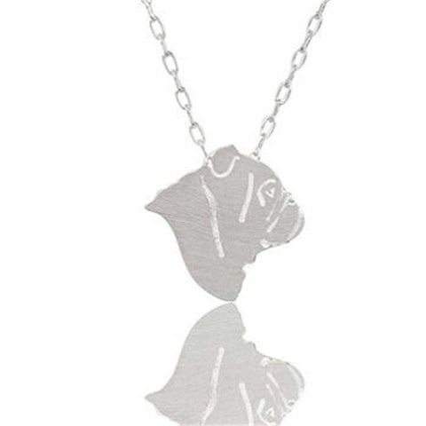 Bulldog Choker Necklace - Green Earth Animals