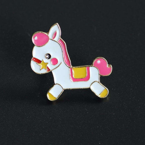Image of Pink Hobby Horse Pin