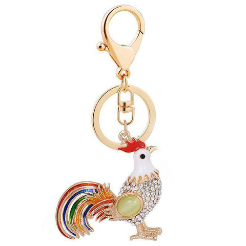 Rooster Chicken Keychain Ornament - Green Earth Animals