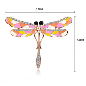 Colorful Dragonfly Pin