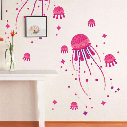 Ocean Jellyfish Wall Decal - Green Earth Animals