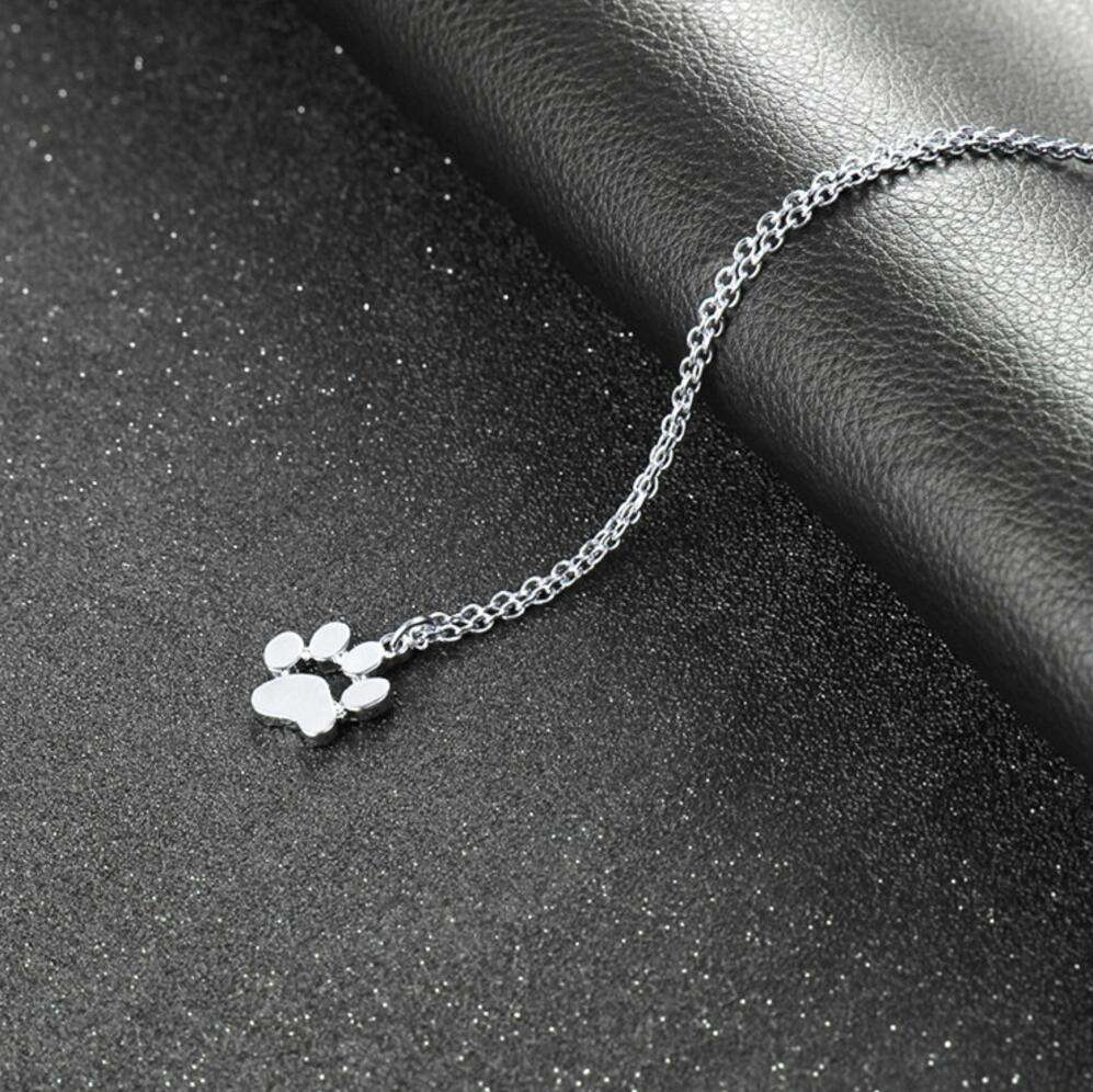 Cat Lover's Paw Necklace - Green Earth Animals