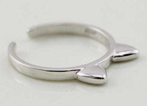 Image of Cat Ears Ring - Green Earth Animals