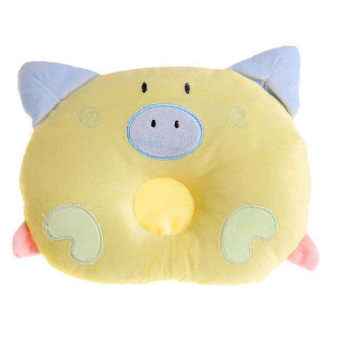 Image of Cute Pig Baby Pillow - Green Earth Animals