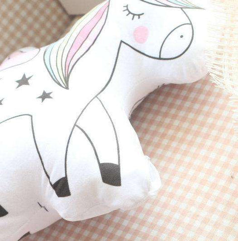 Cartoon Unicorn Cat Pillows - Green Earth Animals