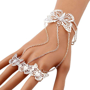 Butterfly Bangle Bracelet and Ring