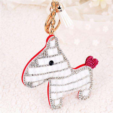Image of Pony Lover's Crystal Pendant Keychain - Green Earth Animals