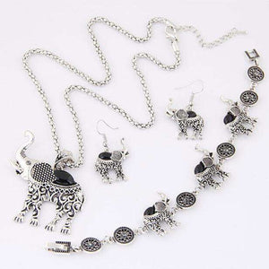 Elephant Pendant Jewelry Set