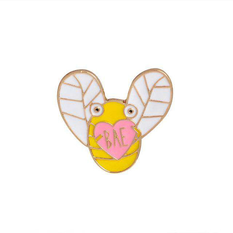 Image of Honey Bee Brooch Pins - Green Earth Animals