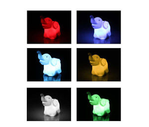 Changing Color Elephant Lamp