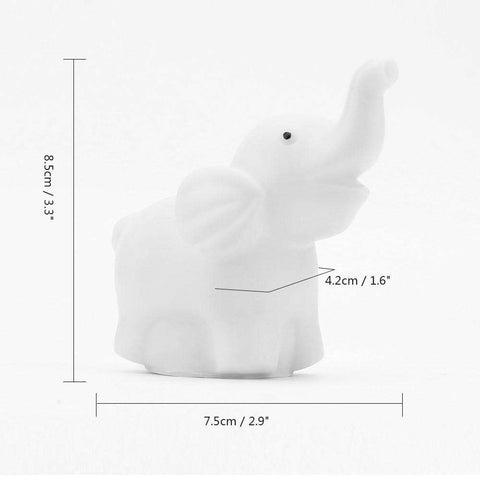 Changing Color Elephant Lamp - Green Earth Animals