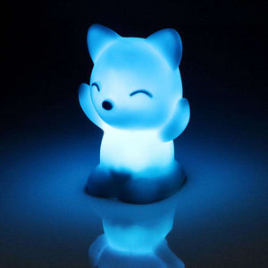 Cute Cat Changing Colors LED Night Light