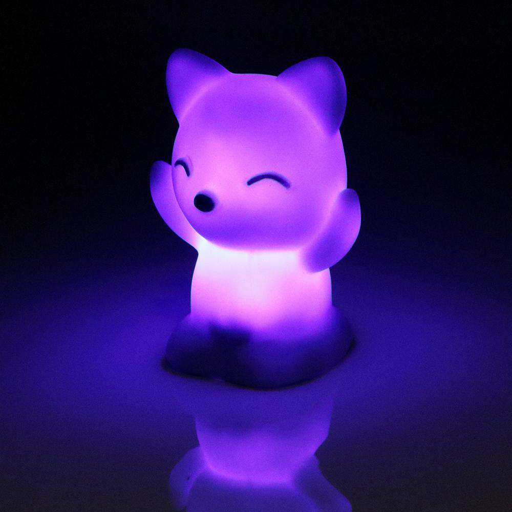 Cute Cat Changing Colors LED Night Light - Green Earth Animals