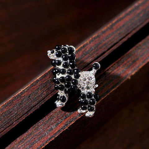 Image of Poodle Lover's Brooch Pin - Green Earth Animals