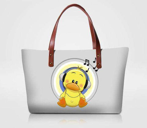 Yellow Duckling Music Tote Bag