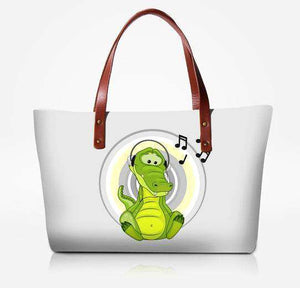 Alligator Music Note Tote Bag